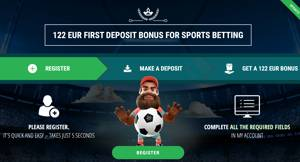 122 eur first deposit bonus for sports betting