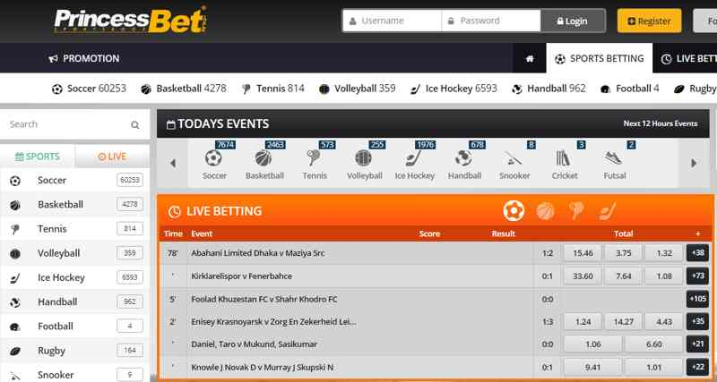 Princessbet sport betting